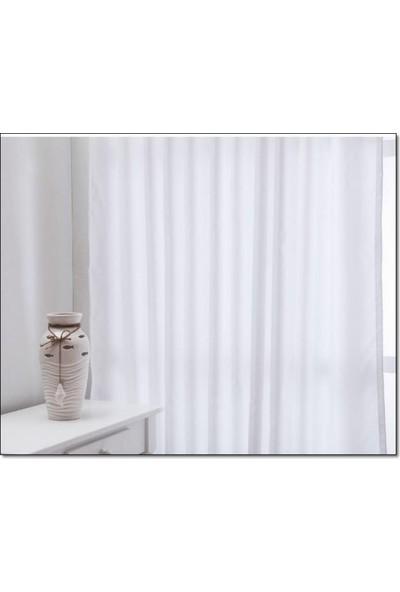Evsa Home Lüx Saten Beyaz Güneşlik - 50x100 cm