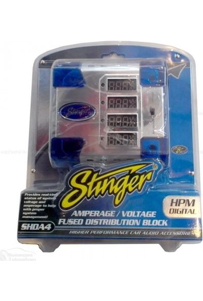 Stinger SHDA4 2 Giriş-4 Çıkış Sigortalı Led Göstergeli Dağıtıcı