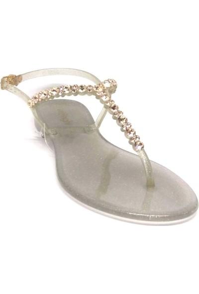 Menghi 086-701 Kadın Sandalet Glitter OroSw