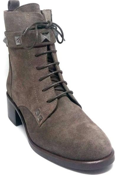 Shop And Shoes 007-1131359 Kadın Bot Vizon Süet