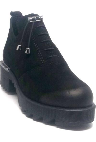 Shop And Shoes 001-679942 Kadın Bot Siyah Nubuk
