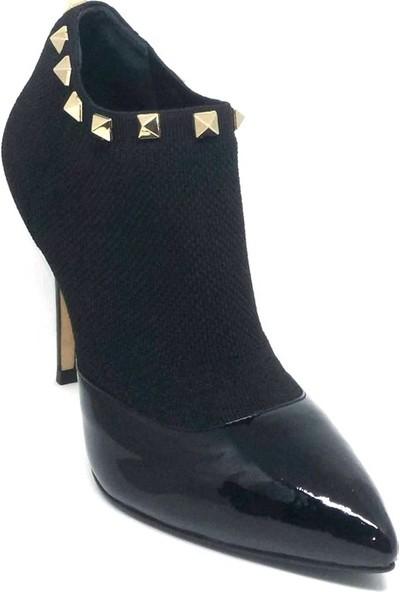 Shop And Shoes 104-3303-A46 Kadın Ayakkabı Siyah Rugan