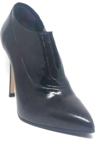 Shop And Shoes 104-3303 Kadın Ayakkabı Siyah Rugan