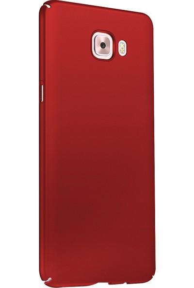 Ehr. Samsung Galaxy J7 Prime Ultra Lüx Sert Rubber Kılıf - Kırmızı