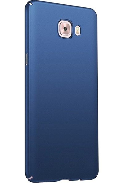 Ehr. Samsung Galaxy J7 Prime Ultra Lüx Sert Rubber Kılıf - Lacivert
