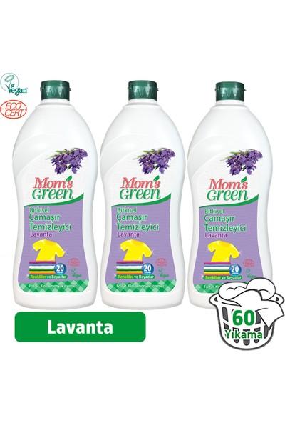 Mom's Green Bitkisel Çamaşır Deterjanı 1 Lt - Lavanta3'lü Set