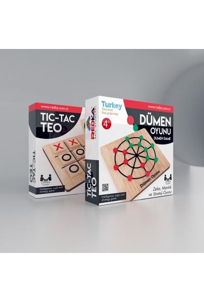 Redka Dümen Oyunu ve Tic Tac Toe oyunu 2 Oyun Birden