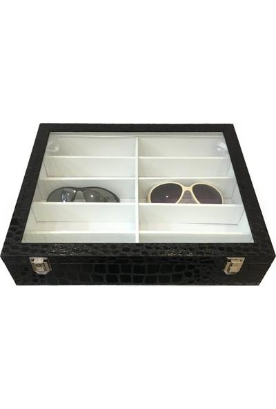 Standmarket 10'Lu Desenli Gözlük Kutusu Siyah