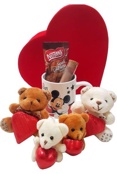Chavin Mickey Mouse Kupa Çikolata Nestle Sıcak Çikolata Ayıcıklar Yap44