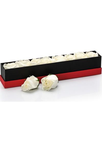 Chavin Aşkın Büyüsü Beyaz Güller Ve Çikolata Hediye Seti Yap60