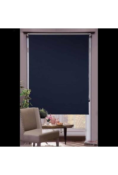 Pierre Cardin Blackout Karartma Düz Stor Perde -Lacivert İ5 50x200