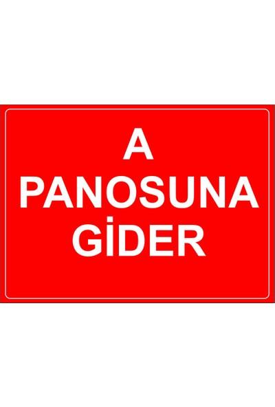 Renkli Reklam A Panosuna Gider Levhası (Dekote Malzeme)