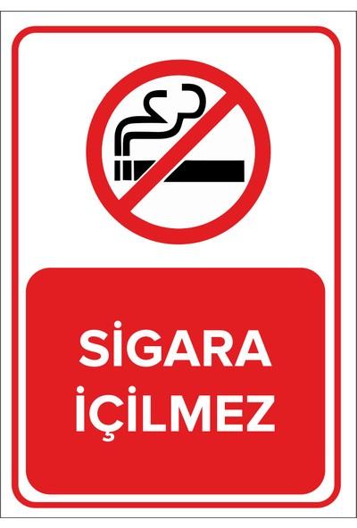 Renkli Reklam Sigara İçilmez Levhası (Dekote Malzeme)