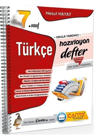 7.Sınıf Türkçe Hazırlayan Defter Çanta Yayınları - Mesut Hayat