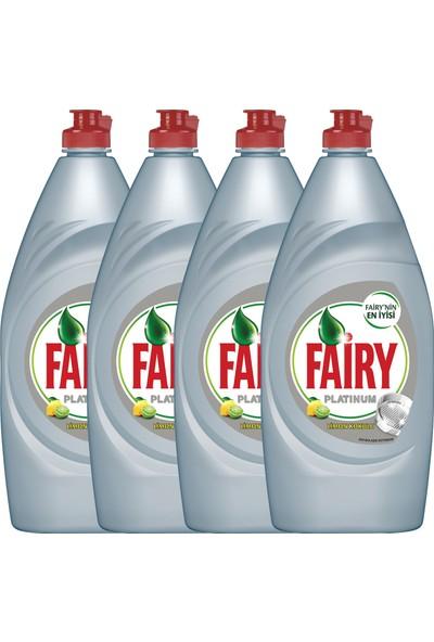 Fairy Platinum Sıvı Bulaşık Deterjanı Limon 870 ml 4'lü