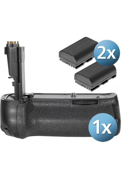 MeiKe Canon EOS 6D İçin MeiKe MK-6D Batter Grip + 2 Ad. LP-E6 Batarya