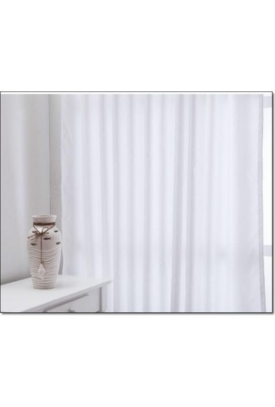 Evsa Home Lüx Saten Beyaz Güneşlik - 360x210 cm