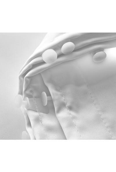 Evsa Home Lüx Saten Beyaz Güneşlik - 530x190 cm