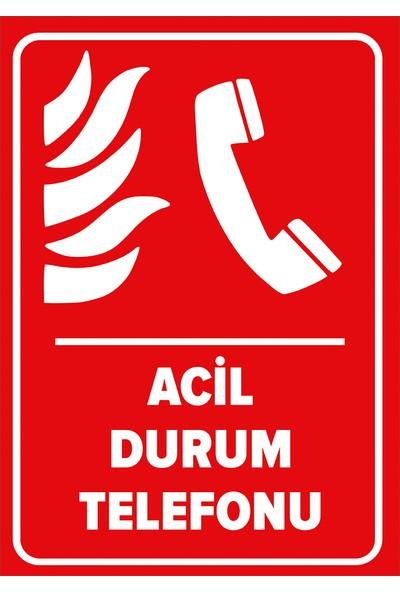 Renkli Reklam Acil Durum Telefon Levhası (Sac Malzeme)