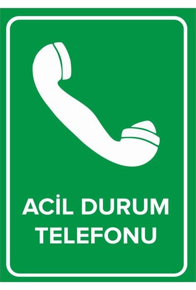 Renkli Reklam Acil Durum Telefonu Levhası (Sac Malzeme)