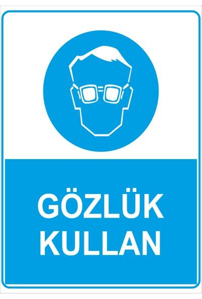 Renkli Reklam Gözlük Kullan Levhası (Sac Malzeme)