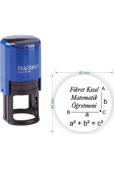 Mobistamps R40 Kişiye Özel Matematik Öğretmeni Kaşesi