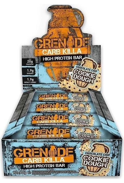 Grenade Carb Killa Protein Bar 60 Gr 12 Adet Çikolata parçacıklı kurabiye
