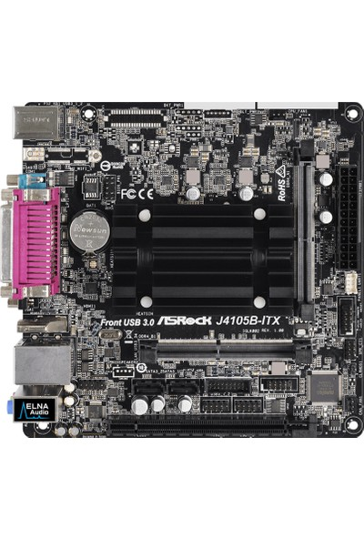 ASRock J4105B-ITX Dahili 4 Çekirdekli İşlemcili 2400MHz DDR4 Mini ITX anakart (ASRJ4105B-ITX)