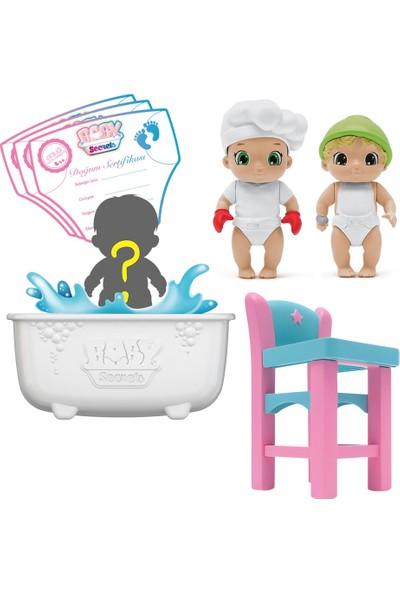 Baby Secrets Sürpriz Figür Ve Mama Sandalyesi Seti
