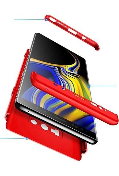 Case 4U Samsung Galaxy Note 9 Kılıf 360 Derece Korumalı Tam Kapatan Koruyucu Sert Arka Kapak - Ays - Rose Gold