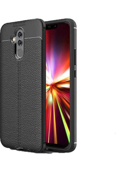 Case 4U Huawei Mate 20 Lite Kılıf Darbeye Dayanıklı Niss Arka Kapak - Siyah