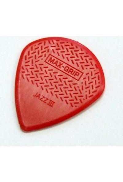 Jim Dunlop Max-Grip Jazz III Nylon Red Pena