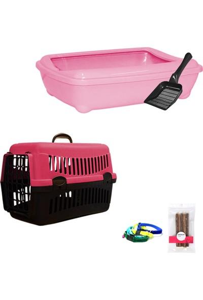 Petfony Açık Kedi Tuvaleti, Kedi Taşıma Çantası, Isırma Oyuncağı catnip ve Tasma