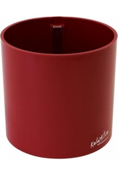 Greenmall Silindir Manyetik Saksı 6 Cm - Kırmızı