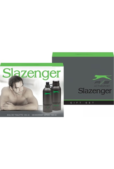 Slazenger Active Sport Yeşil 125 Ml Erkek Parfümü + 150 Ml Deodorant Set