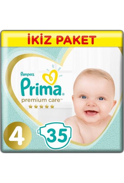 Prima Bebek Bezi Premium Care 4 Beden Maxi İkiz Paket 35 Adet