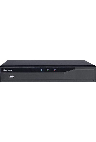 Bullwark Blw N2004P4 D1 4 Kanal 6Mp H.264 1 Disk 4 Kanal Poe Network Kayıt Cihazı