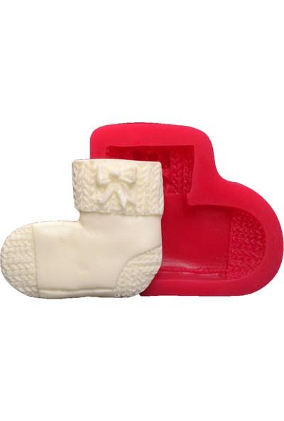 Cesil Şeker Hamuru Ve Kokulu Taş Kalıbı - Örgü Çorap (6*5Cm)