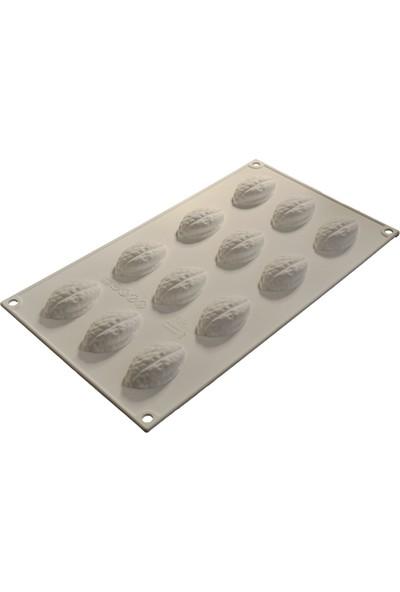 Cesil Silikon Kek kalıbı / 12'Li Küçük Ceviz 4.1 X.3 H: 2 Cm