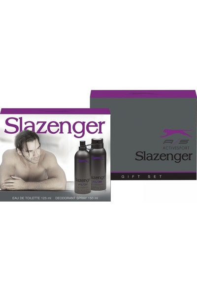 Slazenger Active Sport Mor 125 ml Edt Erkek Parfüm+150 ml Deodarant Set