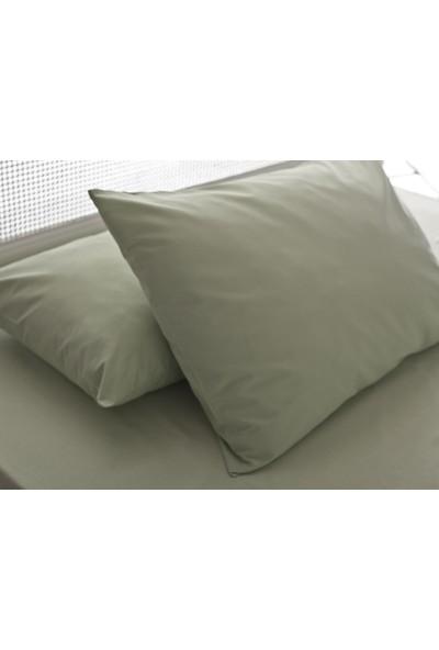 English Home Düz Pamuklu 2li Yastık Kılıfı 50x70 Cm Yeşil