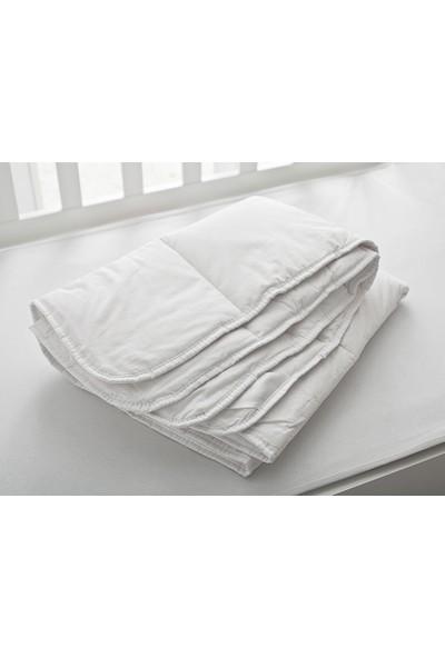 English Home Comfy Pamuk Bebe Yorgan 95x145 Cm Beyaz