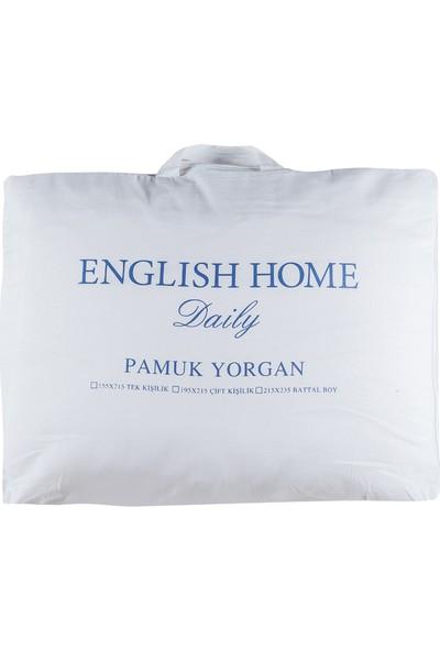 English Home Comfy Pamuk Çift Kişilik Yorgan 195x215 Cm Beyaz