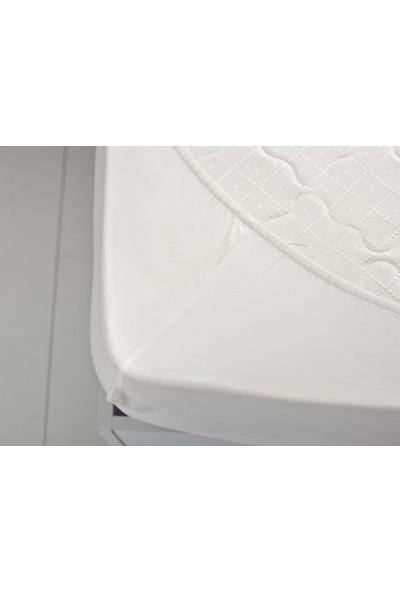 English Home Düz 2 Pamuklu King Size Lastikli Çarşaf 200x200 Cm Beyaz