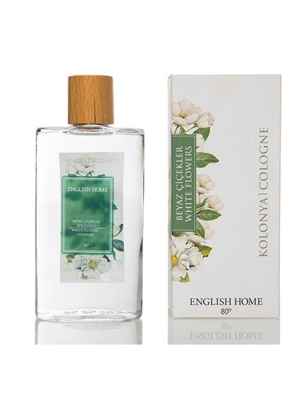 English Home Beyaz Çiçekler Kolonya 200 Ml Beyaz