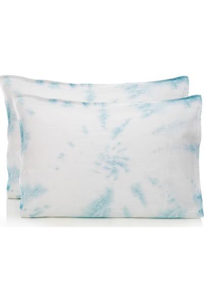 English Home Ocean Tears Pamuklu 2li Yastık Kılıfı 50x70 Cm Açik Mavi
