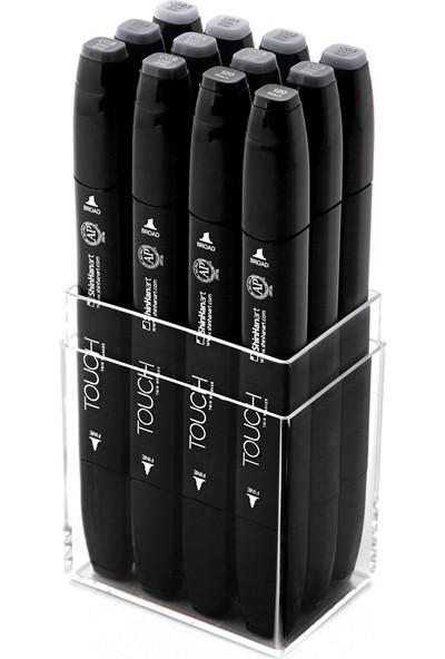 Shinhan Art Touch Twin Marker 12'Li Set Cool Grey C