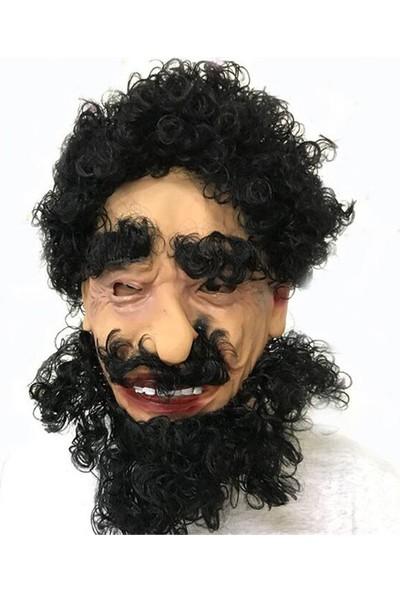 Samur Lateks Et Maske Siyah Saçlı Çirkin Dede Maskesi