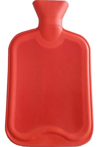 Bosphorus Termofor,Kokusuz Kırmızı Kauçuk Sıcak Su Torbası 2 Litre