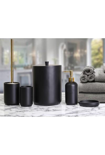By Selim Elegance 5 Parça Polyester Banyo Seti - Siyah
